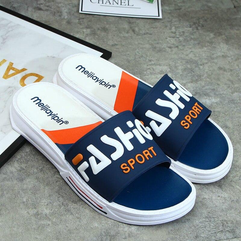 WEH Men Slippers Summer Outdoor Cool Slides Male Couple Beach Sandals Fashion House Shoes Non-slip Floor Flip Flop for men