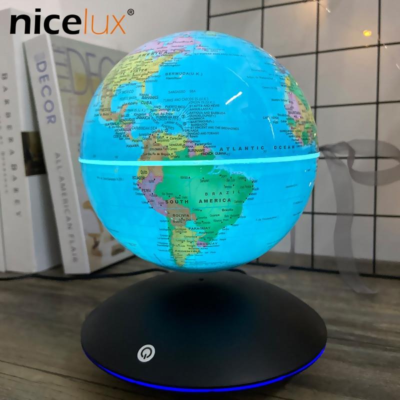 6 inch levitacao magnetica globo terrestre rotacao luminou presentes decoracao criancas luz da noite brinquedos educativos