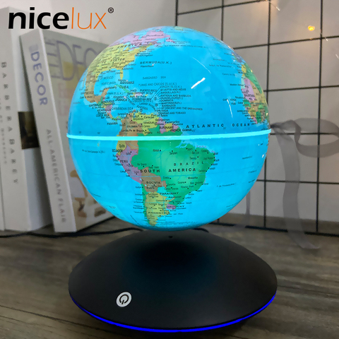 6 inch levitacao magnetica globo terrestre rotacao luminou presentes decoracao criancas luz da noite brinquedos