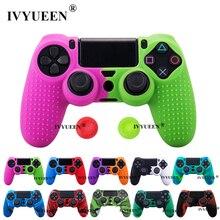 Ivyueenシリコーンカバーのためのデュアルショック 4 PS4 プロスリムコントローラケースと親指グリップキャッププレイステーション 4 ゲームアクセサリー