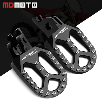 MDMOTO Pair Motorcycle CNC Footrest Footpeg Foot Pegs For Honda CRF250R CRF 250 R 250R CRF250 2004 - 2019 2020 Accessories