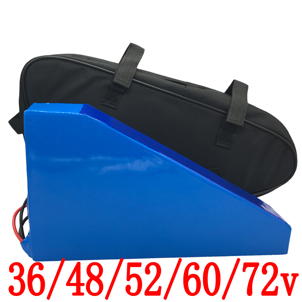 36V 48V <font><b>52V</b></font> 60V 1000W 2000W Triangle Scooter Ebike Lithium <font><b>Battery</b></font> 36V 48V <font><b>52V</b></font> 60V 72V 20AH 25Ah <font><b>30Ah</b></font> electric bicycle <font><b>battery</b></font> image