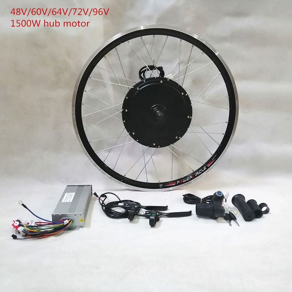 48V/<font><b>60V</b></font>/72V/84V/96V 1500W ebike Hub <font><b>Motor</b></font> Electric Bike Conversion Kit For 26