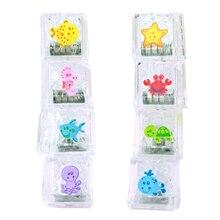 Bath Toys For Baby Lit Ice Cubes Flashing Led Colorful Lights Luminous Toy Bathroom Toy Child Bath Toy Amazing