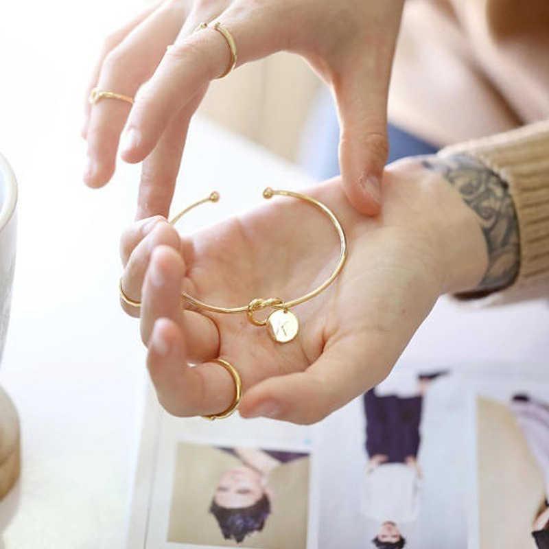2018 חדש אופנה חמה רוז זהב/כסף סגסוגת מכתב צמיד נחש שרשרת צמיד נשי תכשיטי אישיות מתנות
