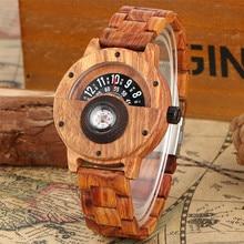 Compass Functional Mens Wood Watch Sport Fashion Men's Quart
