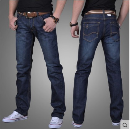 Men's Directly Canister Leisure Fund Jeans Loose Youth Long Pants Male Brand Straight Denim Trousers Jeans For Men
