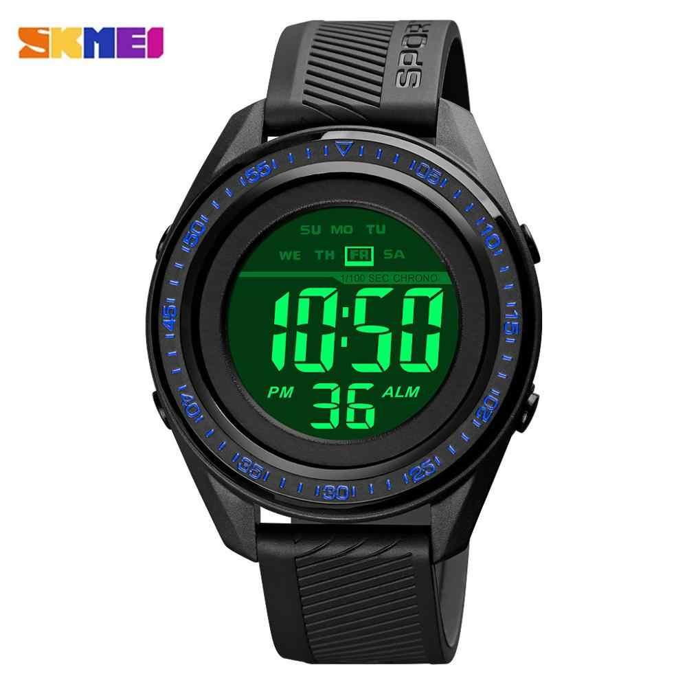 Skmei Mode Led Licht 5Bar Waterdichte Elektronische Heren Horloge Militaire Stopwatch Klok Relogio Masculino 1638 Sport Horloges
