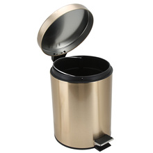 3L/5L Garbage Can Stainless Steel Trash Step Open Wastebasket Large Capacity Garbage Container Bin With Handle Lid For Kitchen bag holder papelera oficina basurero dust kosz na smieci de garbage cubo basura reciclaje dustbin recycle poubelle bin trash can