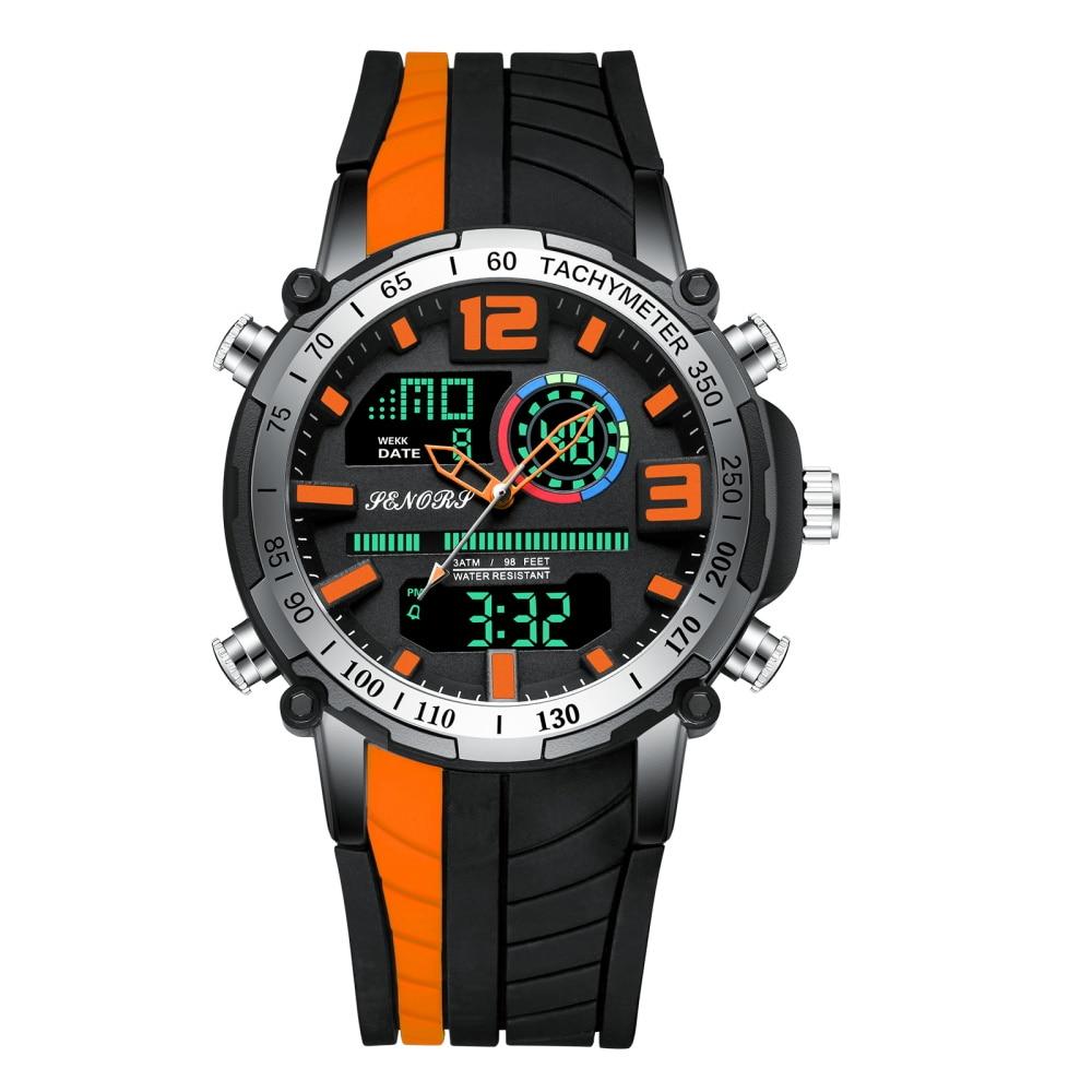 Creative Digital Watch Men Multi-function Quartz Date Wrist Watch Silicone Strap Military Sport Clock Male Relogio Masculine