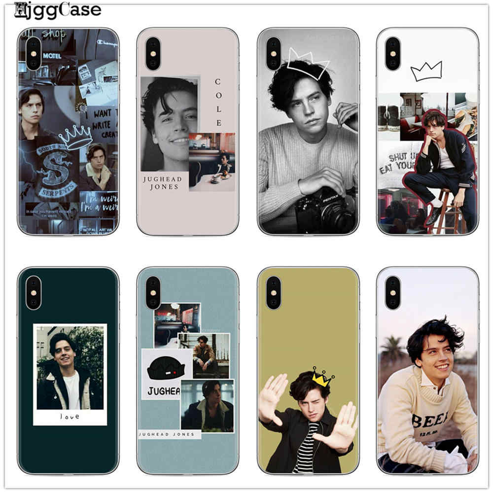 Para o Caso Do iphone 7X6 Riverdale Série da TV Americana Cole Sprouse Coque Caixa Do Telefone para iphone 8 7 6 6S Plus X XS MAX XR 10 5 5S SE