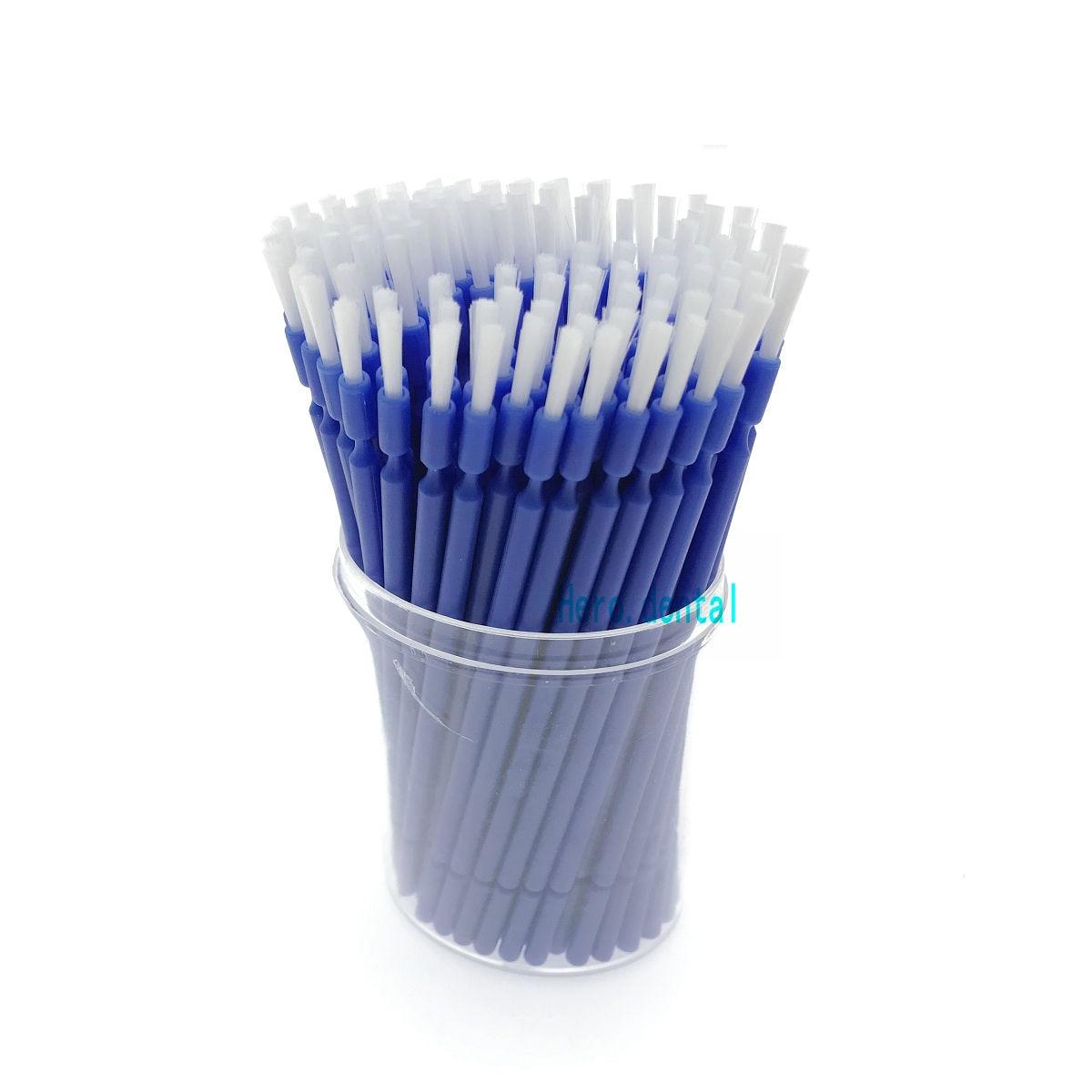 200pcs Dental Lab Long Disposable Micro Applicators Brushes Dental Brush
