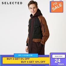 SELECTED Men's Contrasting Windbreaker Long Jacket Outwear Hooded Outwear Mid-le