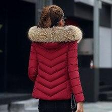 Chaqueta de Invierno para mujer talla grande 2019 nueva Ucrania 3XL chaquetas gruesas de algodón con capucha abrigo de invierno para mujer Parkas largas 816