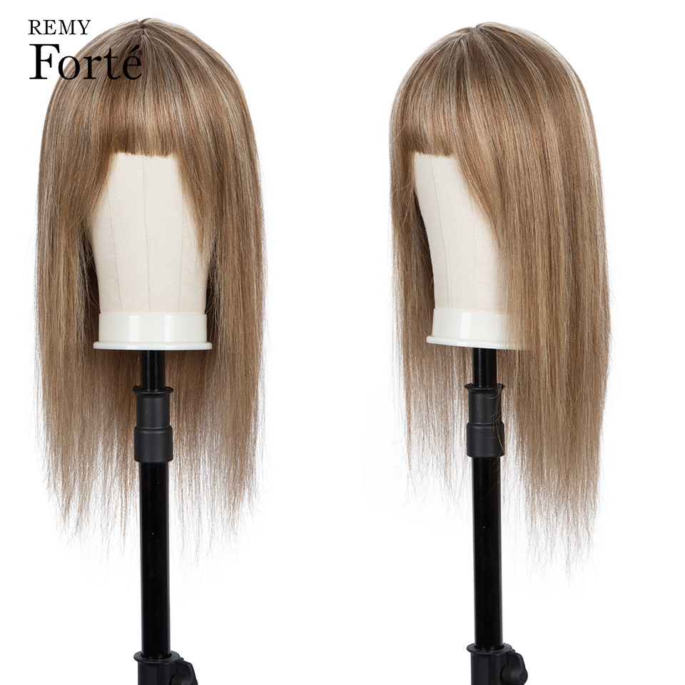 Remy Forte Short Human Hair Wigs 100% Remy Brazilian Hair Wigs For Women 30 Inch Long Blonde Black Ombre Hair Wigs With Bangs
