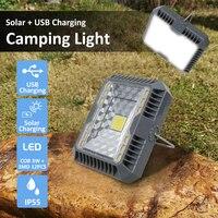 Przenośna latarnia kempingowa, światło USB z ładowaniem słonecznym, oświetlenie namiotu kempingowego, zewnętrzna, przenośna lampa wisząca, panel słoneczny