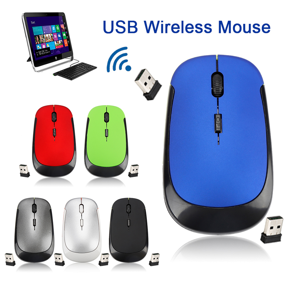 2.4 GHz Optical Wireless Mouse Ultra-thin Office Mice + Receiver Ergonomic Design Wireless Mouse For PC Laptop