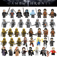 Game of Thrones Movie Figure Jon Snow Ice Cavaliere Arya Stark Petyr Baelish Wights Jeor Mormont Building Blocks Mattoni Bambini giocattoli(China)