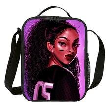 Мини-сумочка для завтрака для девочек и мальчиков в стиле хип-хоп, африканская 3D сумка-холодильник с принтом Термоизолированный ланчбокс для пикника