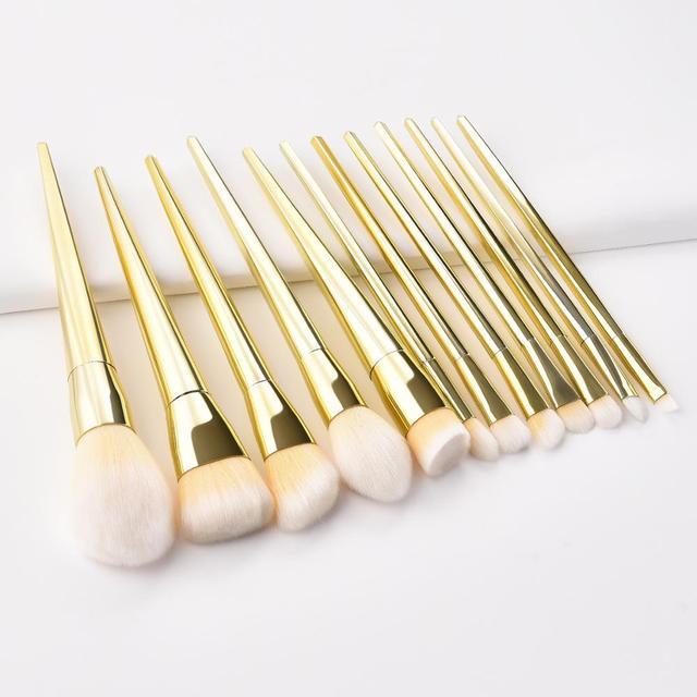 7/12pc Rose Gold Makeup Brushes Set tool for Eyeshadow Eyebrow Fundation Powder Concealer Blush Long handle Makeup maquiagem 3