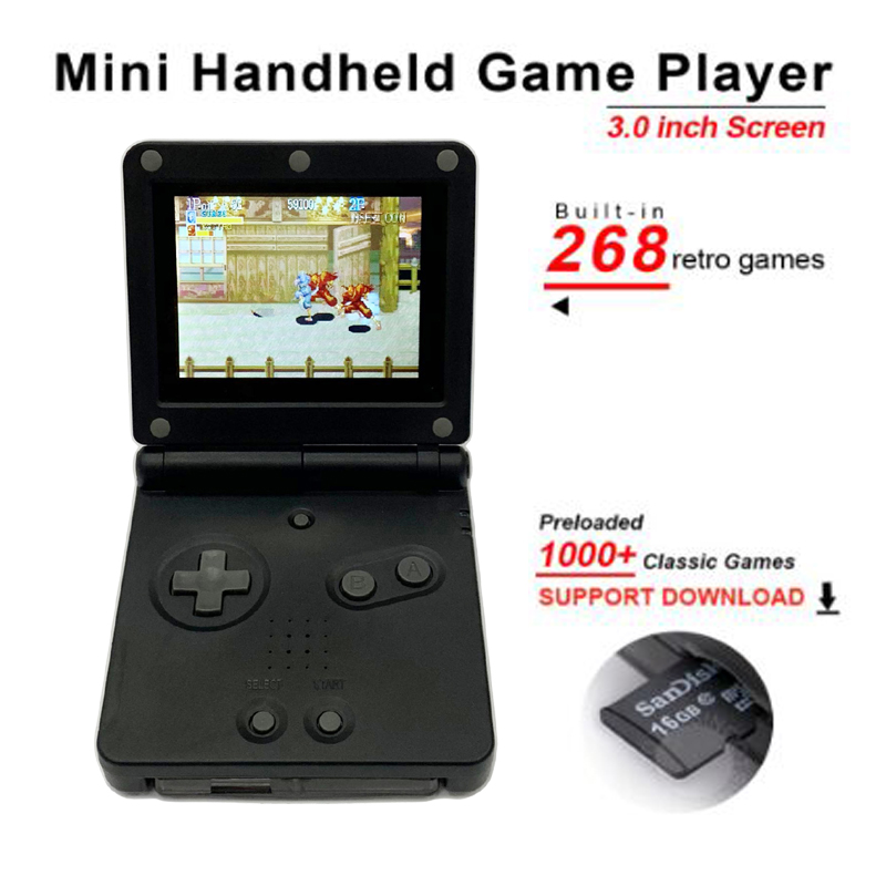 For GB boy PVP Handheld Game Player 8-Bit to 32Bit Game Console with Bulit-in 268 Games Retro For Gaming with TF Card slot