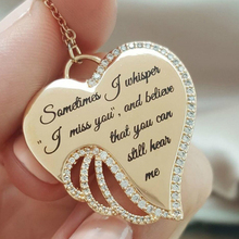 Fashion Heart Necklaces Gold Chain Lover Cute Zirconia Pendant for Moms Love New 2019