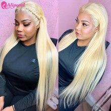 Perruque Lace Closure Wig Remy brésilienne – AliPearl, cheveux naturels, pre-plucked, 4x4, blond 613, densité 150% 180%, pour femmes africaines
