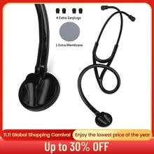Medical Cardiology Stethoscope Professional Single Head Heart Ductor Nurse Phonendoscope Medical Auscultation Device Equipment