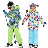 Latest Children's Ski Suit Winter Waterproof Super Warm Colorful Girl and Boy Snow Ski Jacket and Pants Snow Boy Jackets Brands
