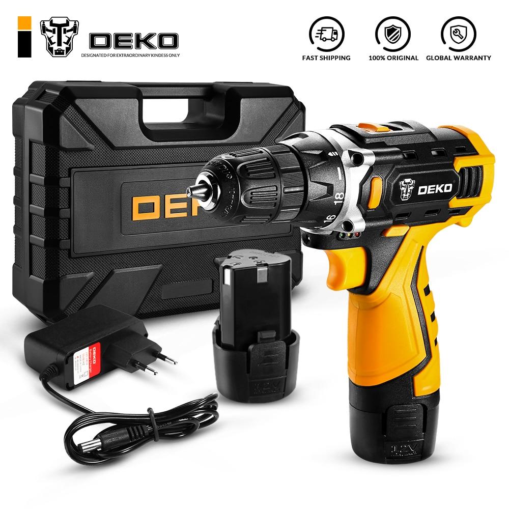 DEKO Новый DKCD12/16/20V электрическая отвертка (Используйте коды - LUCKY150. Свыше 2000 руб. минус 150 ) Мини Беспроводной Мощность драйвер постоянного тока...