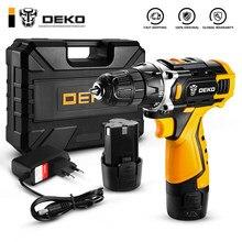 Deko nova dkcd12/16/20v chave de fenda elétrica mini driver de energia sem fio dc bateria de lítio-íon casa diy keyless