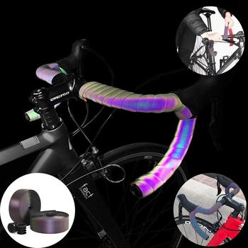 2020 New Road Bike Bicycle Handlebar Tape Gradient Color belt Cycling Handle Belt Cork Wrap with Bar Plugs Non Slip Absorb Sweat