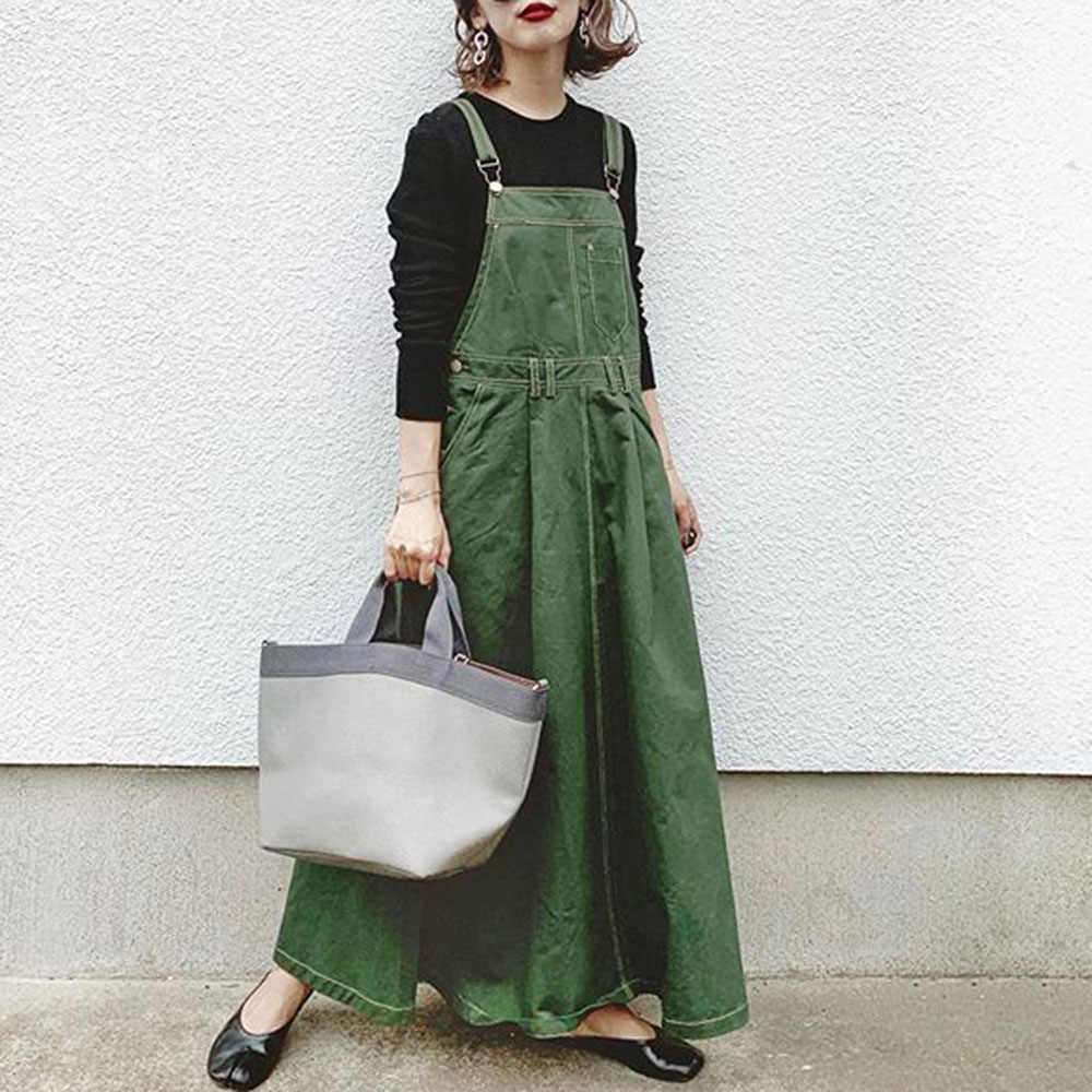 Korean Plian Dress Women Strap Midi Casual Strapless Elegant Office Ladies Green Boho Dresses Ankle-Length Pullover Long Robe