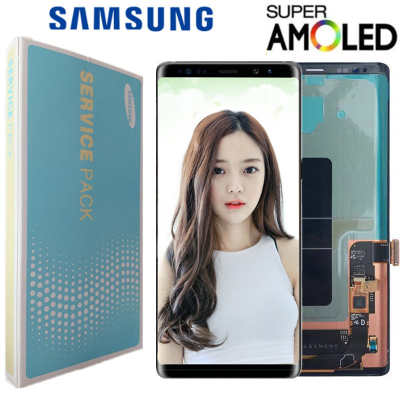ORIGINAL 6.3'' SUPER AMOLED LCD with frame for SAMSUNG GALAXY Note 8 Note8 Display Touch Screen Digitizer Assembly title=