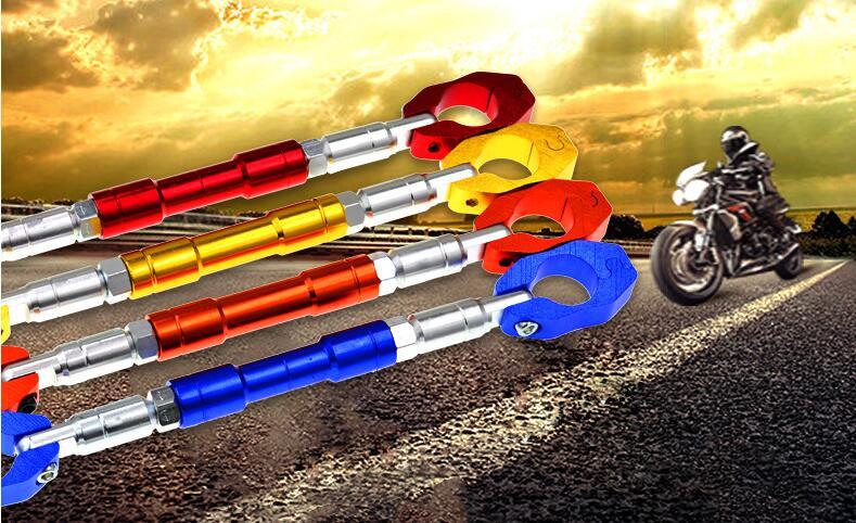 Motorcycle CNC Aluminum 7 8inch Handlebars Wheel Strengthen Grips Steering Cross Bar Adjustable Crossbar