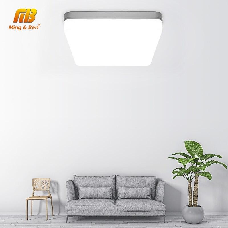 Panel de luz LED cuadrado 18W 24W 36W 48W LED superficie techo Downlight AC85-265V lámpara de techo redonda para la decoración de la iluminación del hogar