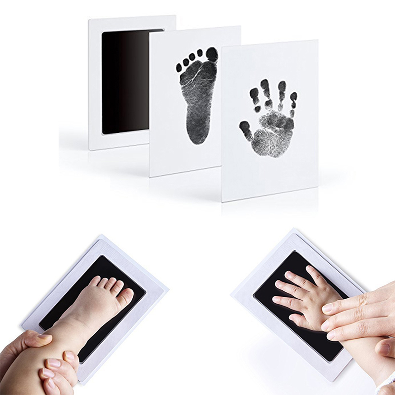 Quality High Baby Non-toxic Handprint Footprint Imprint Kit Baby Souvenirs Casting Newborn Hand Ink Pad Toddle Birthday Gifts