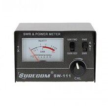 SURECOM SW 111 테스트 SWR 또는 상대 전력 용 CB 라디오 안테나 용 100 와트 SWR/전력계