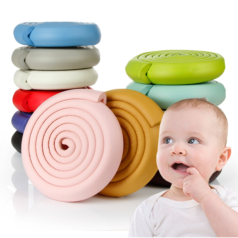 2M Soft Baby Safety Desk Table Edge Guard Security L-Shaped Kids Baby Corner Protection Bumper Angle Home Anti-collision Strip