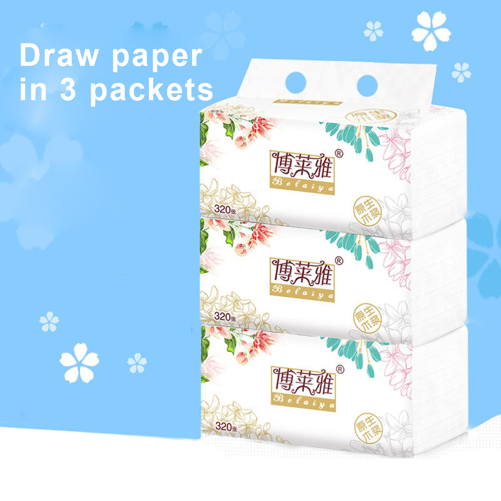 3 Packs 118 Sheets Multifold Paper Towel Wood Pulp Paper Tissues Home Restaurant Toilet Napkins