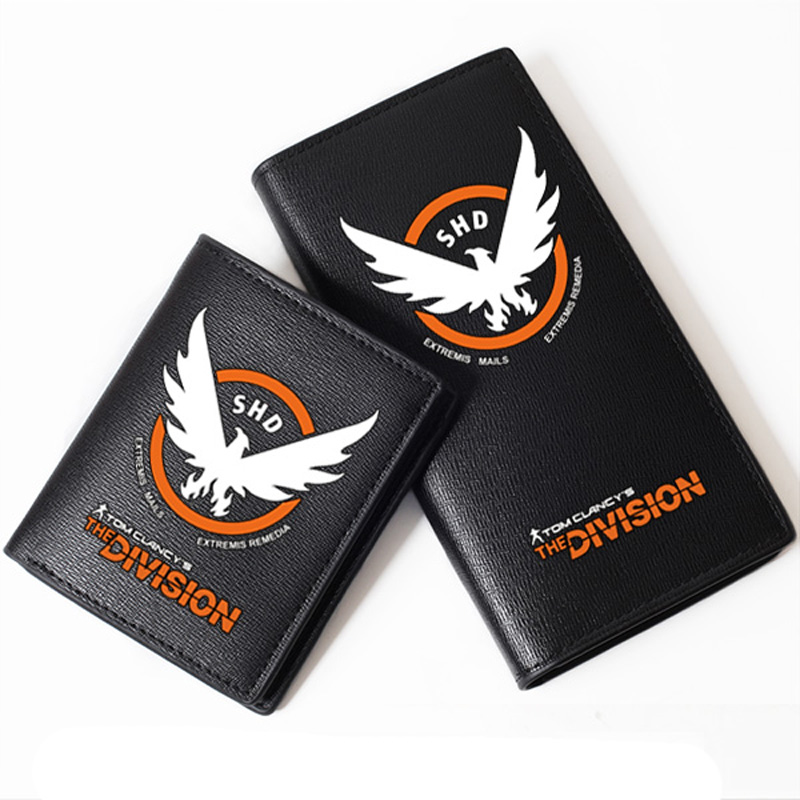 Game Tom Clancy's The Division Color Printing Men Long Wallet Pu Leather Money Coin Purse Male Pocket Card Holder Passport Case