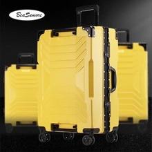BeaSumore, модный креативный дизайн, чемодан на колёсиках,, алюминиевая рама, тележка, для женщин и мужчин, 20 дюймов, кабина, чемодан, колеса