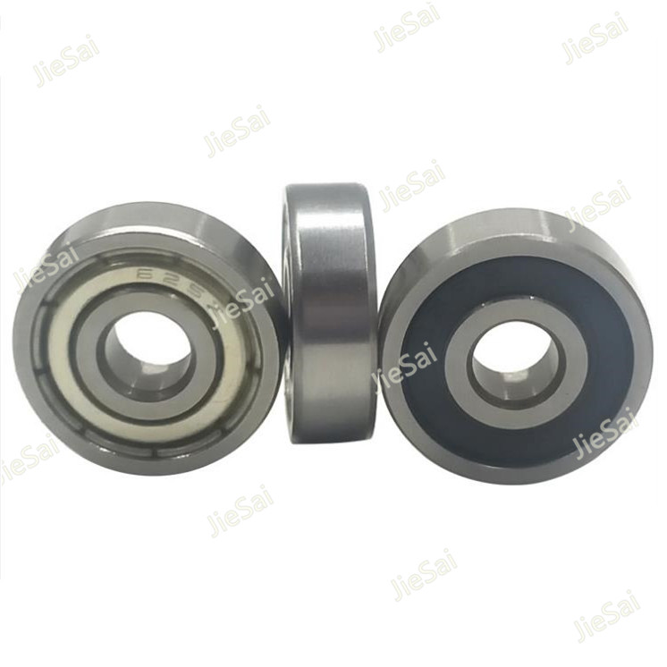 10/20PCS Ball Bearings 623 624 625 626 627 628 629 Rubber Sealed Deep Groove Ball Bearing Miniature Bearing Flanged Pulley Wheel image