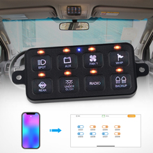 8 Gang LED Switch Panel Car Truck DC12V-24V Programmable For phone control Download Mounting Software Power System Switch Panel original new control panel keyboard power switch board panel for epson l850 l810 printer pcb panel assembly
