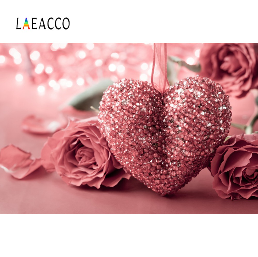 Laeacco Happy Valentine S Day Red Rose Polka Dots Light Bokeh Party Baby Kid Photo Background Photography Backdrops Photo Studio Background Aliexpress