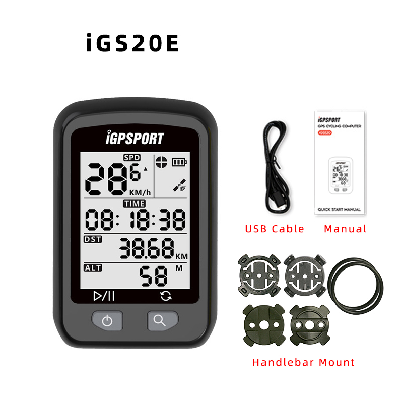 iGPSPORT iGS20E GPS - Enabled Bike Bicycle Computer Speedometer Odometer