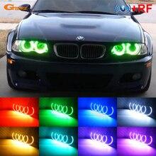 цена на 4 pcs 131mm For BMW E36 E38 E39 E46 Excellent RF remote Bluetooth APP Multi-Color Ultra bright RGB LED Angel Eyes Halo Ring kit