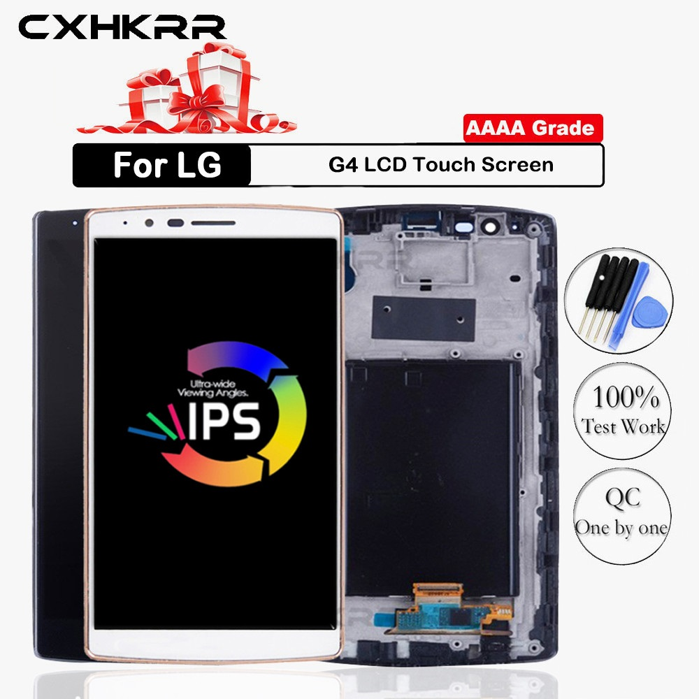 For LG G4 LCD Display Touch Screen Digitizer Assembly For LG G4 Display with Frame Replacement H815 H815P US991 Dual H818 image