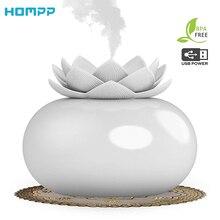 200ml Blume Ätherisches Öl Diffusor Dekorative Aromatherapie Diffusor, Niedlich Lotus Keramik Luftbefeuchter Handwerk, USB Timer 12 Stunden