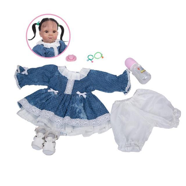кукла реборн 22 дюйма в этническом стиле мягкая виниловая младенец фотография